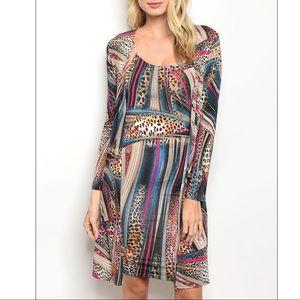 Pretty! leopard print cardigan + dress set 🐆